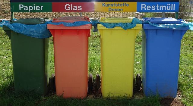 lixeiras para a separaçao de lixo